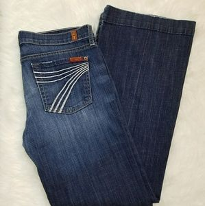 """7 For All Mankind """"DOJO"""" Distressed Jeans"""